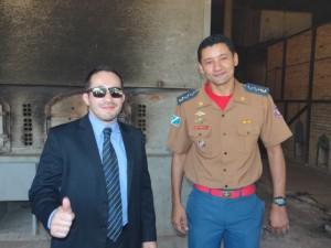 Dr. Pedro, promotor de Justiça e Major BM Pinheiro